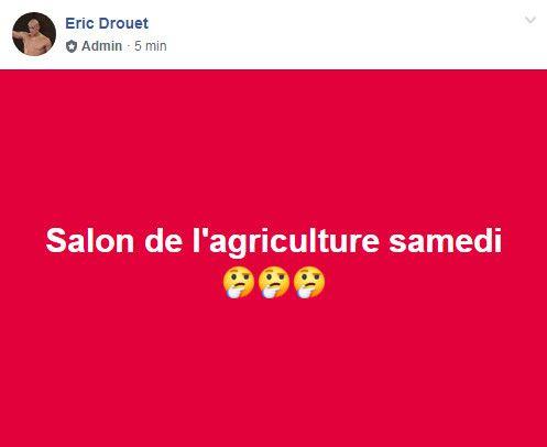 """Message posté par Eric Drouet sur son groupe """"la france en colere !!!"""", vendredi 22 février 2019. (FACEBOOK)"""