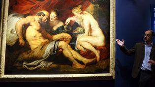 """Le tableau de Rubens, """"Loth et ses filles"""" a été vendu 58,1 millions de dollars  (Li Peng / XINHUA)"""