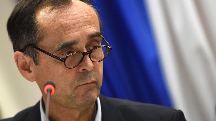 Robert Menard devant le conseil municipal de Beziers (l'Hérault) le 18 octobre 2016 (SYLVAIN THOMAS / AFP)