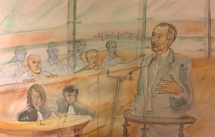Le grand frère de Redoine Faïd devant la cour d'assises de Paris le 2 mars 2016. (ELISABETH DE POURQUERY / FRANCETV INFO)