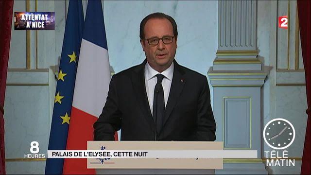 Attentat à Nice : la première réaction de François Hollande