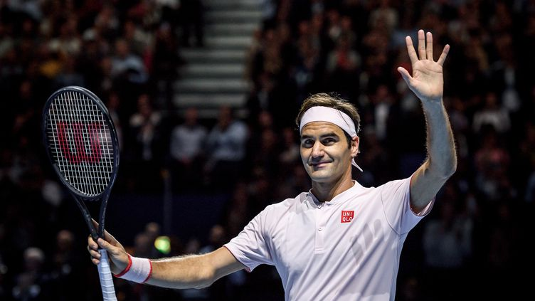 Rodger Federer finaliste à Bâle (FABRICE COFFRINI / AFP)