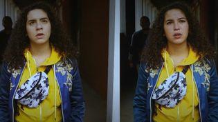 """Le visage deMalika Alaoui, interprète du personnage de Mila dans Plus belle la vie,a été incrusté sur celui d'une autre comédienne grâce au """"deepfake"""". (CAPTURE D'ÉCRAN FRANCE 3)"""
