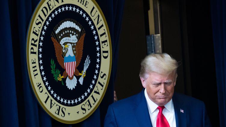 Le président américain Donald Trump, le 8 décembre 2020, à Washington DC (Etats-Unis). (SAUL LOEB / AFP)
