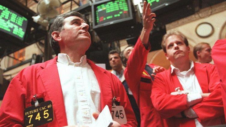 La question de la restructuration de la dette grecque met en difficulté les banques. (CHRISTOPHE SIMON / AFP)