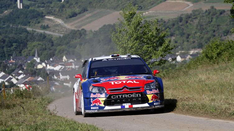 Sébastien Loeb (Citroën C4) sur les routes du rallye d'Allemagne