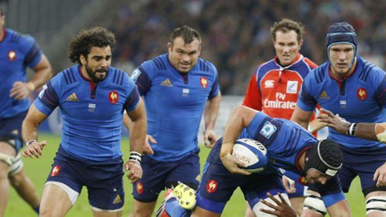 La charge tricolore menée par Dumoulin, avec Huget, Mas, Leroux et Maestri en soutien