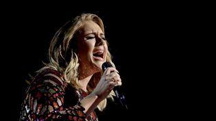 """Adèle chante """"Hello"""" le 12 février 2017 aux Grammys  (Matt Sayles/AP/SIPA)"""