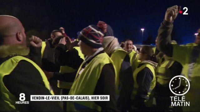 Mouvement des gilets jaunes : une plateforme de la grande distribution bloquée dans le Pas-de-Calais