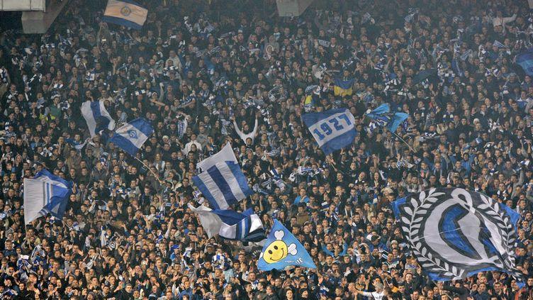 Le public du Dynamo Kiev lors de la réception de Chelsea. (STR / NURPHOTO)