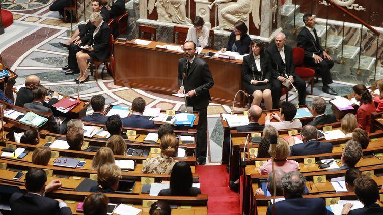 Le Premier ministre, Edouard Philippe, s'exprime lors d'une séance de questions au gouvernement à l'Assemblée nationale, le 26 juillet 2017. (JACQUES DEMARTHON / AFP)
