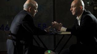 Jeremy Rifkin et François Lenglet, àParis, en septembre 2014. (V.PASQUESOONE/ FRANCE TÉLÉVISIONS)