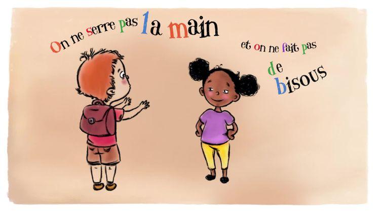 Les gestes barrières en vingt secondes dans une série animée à destination des enfants (France 3 AURA)