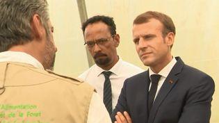 Emmanuel Macron en Guadeloupe, vendredi 28 septembre. (FRANCE 3)