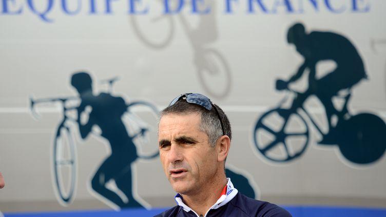 Laurent Jalabert, le 18 septembre 2012 àValkenburg (Pays-Bas). (FRANCK FIFE / AFP)