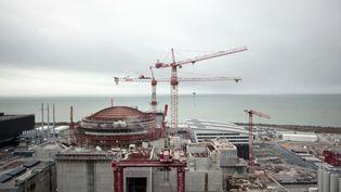 Le chantier de l'EPR de Flamanville (Manche), le 19 février 2014. (CHARLY TRIBALLEAU / AFP)