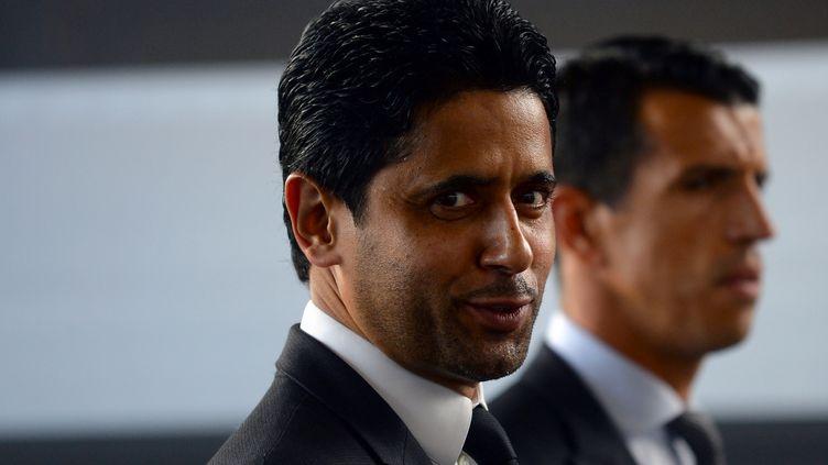 Le président du PSG et directeur de BeIn Media Group, Nasser Al-Khelaifi, avant un match du Paris-Saint-Germain, le 18 août 2019, à Rennes. (JEAN-FRANCOIS MONIER / AFP)