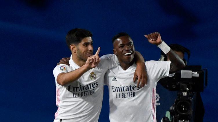 Vinícius a inscrit son premier but de la saison (PIERRE-PHILIPPE MARCOU / AFP)