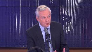 """Bruno Le Maire,ministre de l'Économie était l'invité du """"8h30 franceinfo"""", jeudi 23 septembre 2021. (FRANCEINFO / RADIOFRANCE)"""