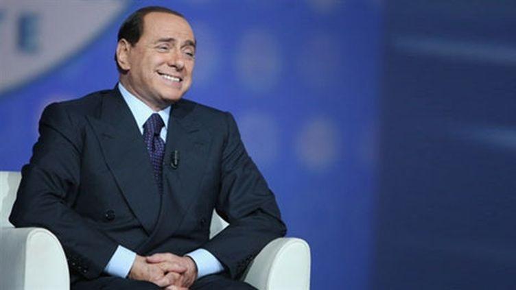 Silvio Berlusconi le 11 avril 2008 à une émission de télévision italienne (AFP)