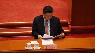 Le président chinois Xi Jinping, le 4 mars 2021. (LEO RAMIREZ / AFP)