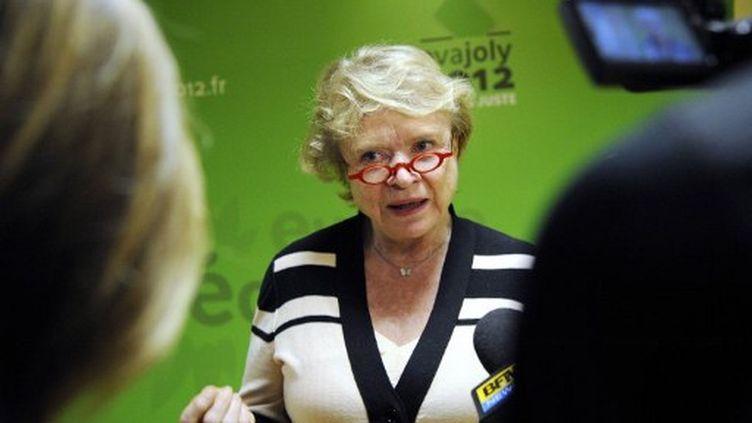 Eva Joly le 22 mars au siège d'Europe Ecologie - Les Verts à Paris (BERTRAND GUAY / AFP)