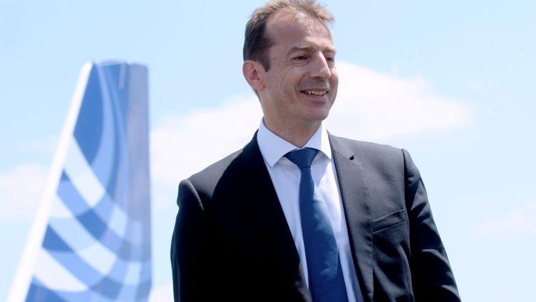 Toulouse, le 9 octobre 2018. Guillaume Faury a été nommé directeur général d'Airbus aviation commerciale. Il succèdera à Tom Enders fin avril 2019. (MAXPPP)