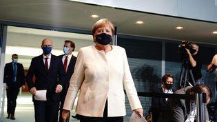 La chancelière allemande Angela Merkel avant une conférence de presse, à Berlin, le 29 septembre 2020. (KAY NIETFELD / AFP)