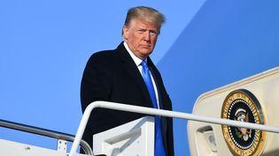 Le président américain Donald Trump, le 7 décembre 2019, sur une base militaire du Maryland (Etats-Unis). (MANDEL NGAN / AFP)