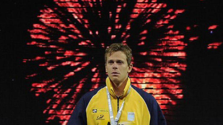 Le champion du monde Cesar Cielo