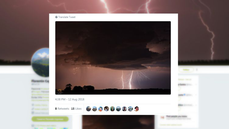 De violents orages ont frappé plusieurs régions du sud de la France,dimanche 12 août. (CAPTURE D'ÉCRAN / TWITTER)