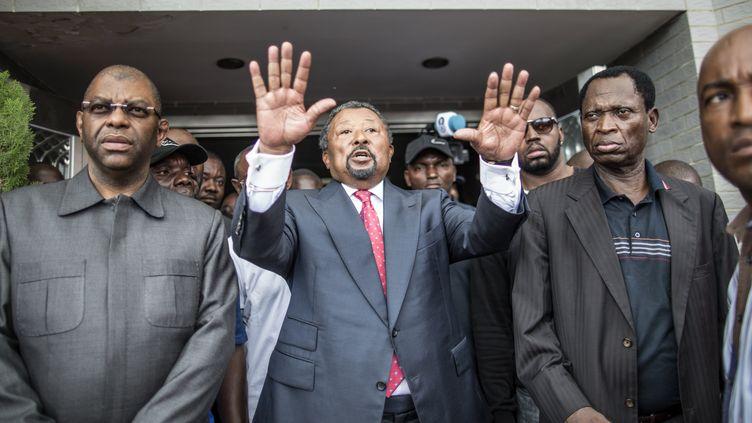 Jean Ping, à Libreville, le 28 août 2016. (MARCO LONGARI / AFP)