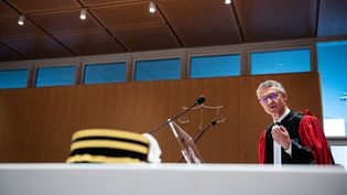 Jean-François Ricard, procureur au parquet national antiterroriste, le 3 juillet 2019, au tribunal de Paris. (MARTIN BUREAU / AFP)
