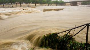 Les rues de Montpellier (Hérault) inondées, le 29 septembre 2014. (  MAXPPP)