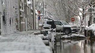 Inondation et neige à Lagny-sur-Marne (Seine-et-Marne). (FRANCE 3)