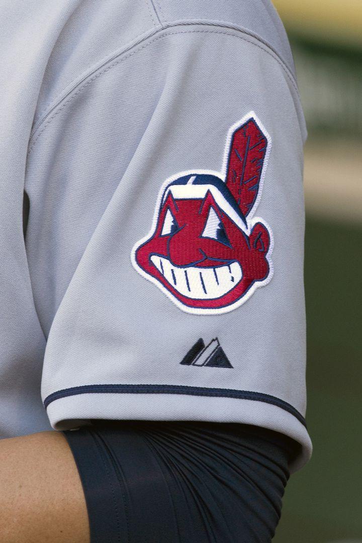 """""""Chief Wahoo"""", la mascotte des Cleveland Indians, lors d'un match à Oakland (Californie) le 16 août 2013. (JASON O. WATSON / GETTY IMAGES NORTH AMERICA)"""