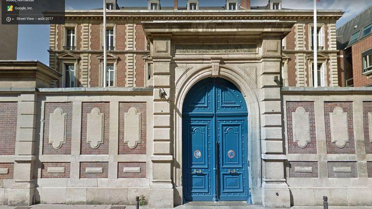 Vue Google Street View de la porte de la Banque de France, à Rouen (Seine-Maritime), en 2017. (GOOGLE MAPS)