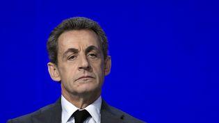 Nicolas Sarkozy lors du conseil national des Républicains le 13 février 2016 à Paris. (LIONEL BONAVENTURE / AFP)