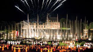 La Cinéscénie, spectacle nocturne du Puy du Fou, aux Epesses (Vendée), le 29 juillet 2020. (PHILIPPE ROY / AFP)