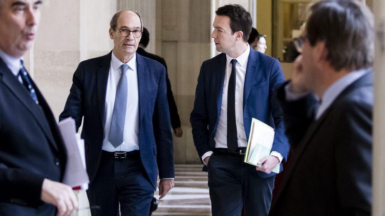 Eric Woerth et Guillaume Peltier le 13 février 2017 à l'Assemblée nationale. Illustration. (VINCENT ISORE / MAXPPP)