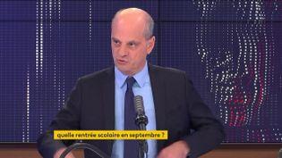 Jean-Michel Blanquer, le 1er juillet 2021, sur franceinfo. (FRANCEINFO / RADIO FRANCE)