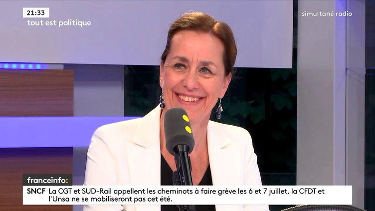 La sénatrice LR du Bas-Rhin Fabienne Keller sur franceinfo, le 26 juin 2018. (FRANCEINFO / RADIOFRANCE)