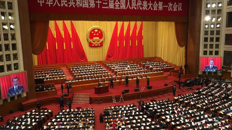 L'ouverture de la session de l'Assemblée nationale populaire de Chine, le lundi 5 mars à Pékin. (DOMINIQUE ANDRÉ / RADIO FRANCE)