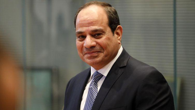 Le président égyptien Abdel Fattah al-Sissi au Bundestag, le 18 novembre 2019 à Berlin. (ODD ANDERSEN / AFP)