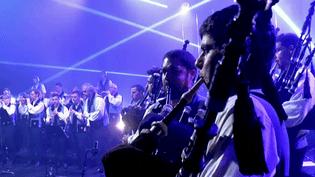 Le Bagad de Vannes en concert  (Capture d'écran France 3 Bretagne )