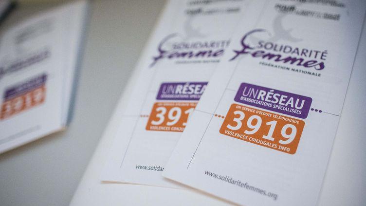 Locaux de la Féderation nationale Solidarité Femmes (FNSF) qui gere le service national d'écoute pour les femmes victimes de violences, le 3919. (MARLENE AWAAD / MAXPPP)