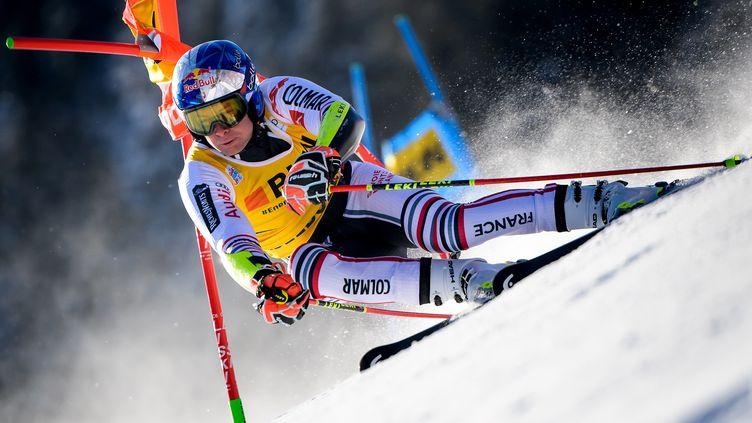 Alexis Pinturault lors du géant d'Adelboden (FABRICE COFFRINI / AFP)
