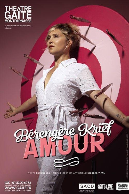 """L'affiche d' """"Amour"""" le nouveau spoectacle de Bérengère Krief (DR)"""