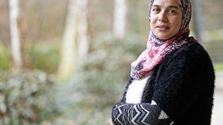 """Soria Zeroual, actrice principale du film """"Fatima"""" et nommée aux César, le 18 février 2016 à Givors (Rhône). (MAXPPP)"""