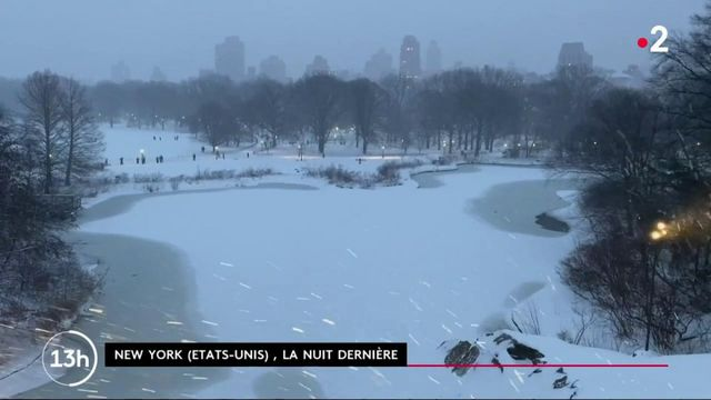 États-Unis : les New Yorkais profitent de la neige pour se détendre